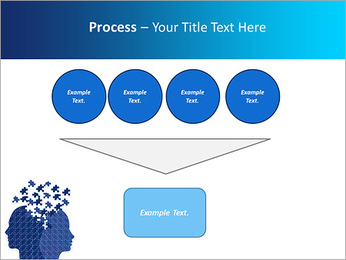 Blue Head Puzzle PowerPoint Template - Slide 73