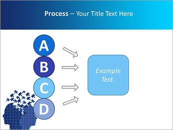 Blue Head Puzzle PowerPoint Template - Slide 74