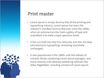 Blue Head Puzzle PowerPoint Template - Slide 76