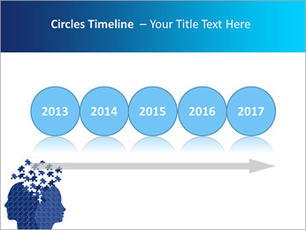 Blue Head Puzzle PowerPoint Template - Slide 9