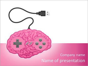 Brain Under Control PowerPoint Template - Slide 1