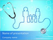 Family Doctor Besök PowerPoint presentationsmallar