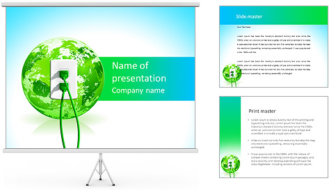 Green Energy Source PowerPoint Template