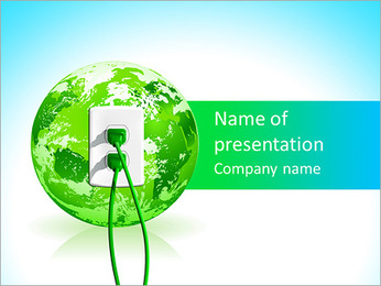Green Energy Source PowerPoint Template - Slide 1