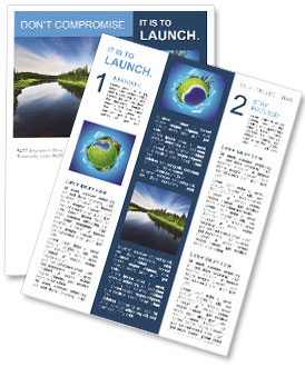 Beautiful Lake Newsletter Template