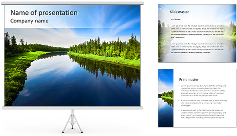 Beautiful Lake PowerPoint Template