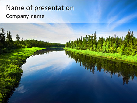 Beautiful Lake PowerPoint Templates