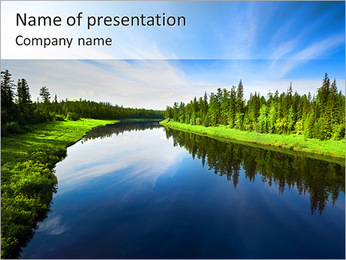 Beautiful Lake PowerPoint Template - Slide 1