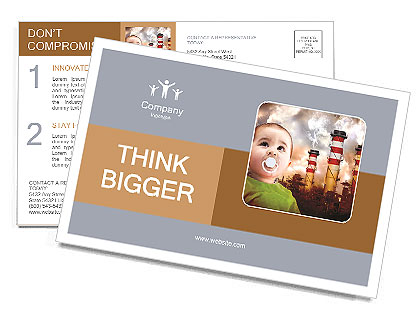 Ecology For Children Postcard Template