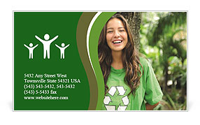 Eco Activist Business Card Template