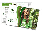 Eco Activist Postcard Template
