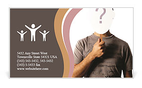 Vital Question Business Card Template