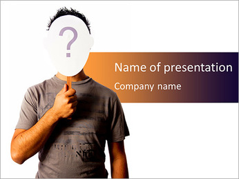 Vital Question PowerPoint Template - Slide 1