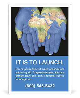 Map On Hands Ad Templates