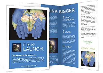 Map On Hands Brochure Templates