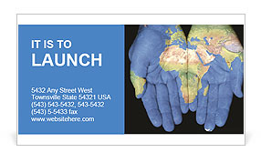 Map On Hands Business Card Templates
