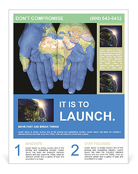 Map On Hands Flyer Template