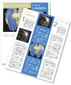 Map On Hands Newsletter Templates