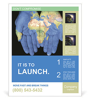 Map On Hands Poster Template