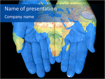 Map On Hands PowerPoint Templates - Slide 1