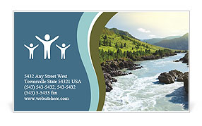 River Business Card Templates