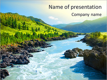 River PowerPoint Template - Slide 1