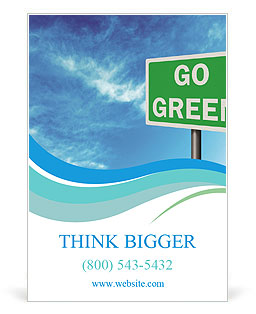 Go Green Sign Ad Template