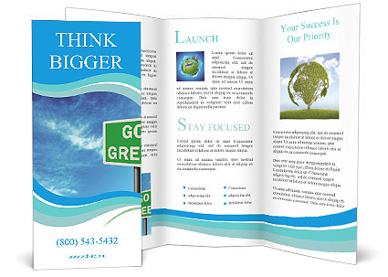 Go Green Sign Brochure Templates