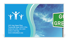 Go Green Sign Business Card Template