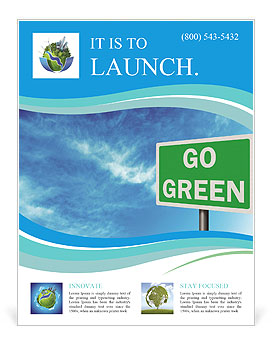 Go Green Sign Flyer Template