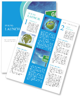 Go Green Sign Newsletter Template