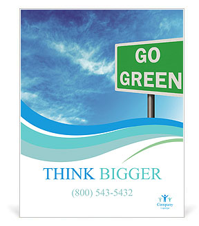 Go Green Sign Poster Template