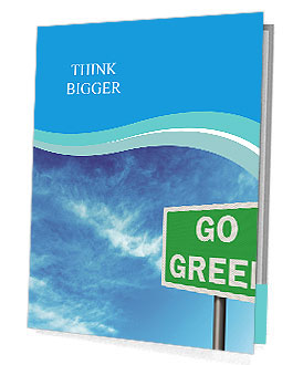 Go Green Sign Presentation Folder