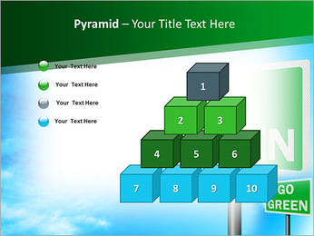 Go Green Sign PowerPoint Templates - Slide 11