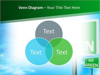 Go Green Sign PowerPoint Templates - Slide 13