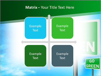 Go Green Sign PowerPoint Templates - Slide 17
