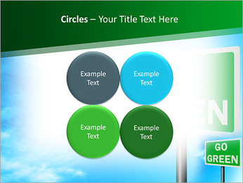 Go Green Sign PowerPoint Templates - Slide 18