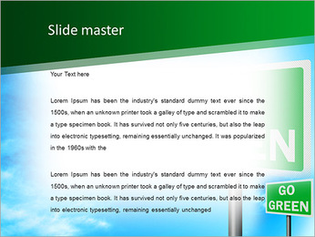 Go Green Sign PowerPoint Template - Slide 2