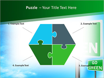 Go Green Sign PowerPoint Templates - Slide 20