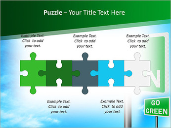 Go Green Sign PowerPoint Template - Slide 21