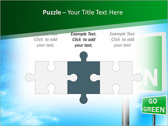 Go Green Sign PowerPoint Template - Slide 22