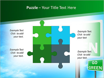 Go Green Sign PowerPoint Template - Slide 23