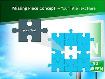 Go Green Sign PowerPoint Template - Slide 25