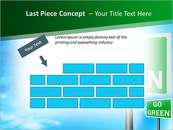 Go Green Sign PowerPoint Template - Slide 26