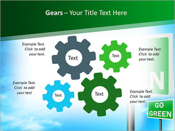 Go Green Sign PowerPoint Templates - Slide 27