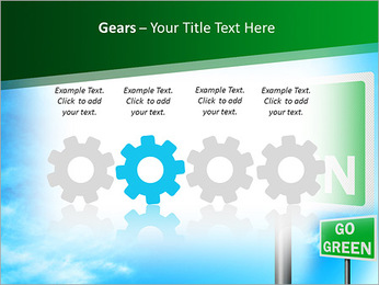 Go Green Sign PowerPoint Template - Slide 28