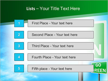 Go Green Sign PowerPoint Template - Slide 3