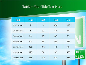 Go Green Sign PowerPoint Templates - Slide 35