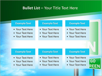Go Green Sign PowerPoint Template - Slide 36