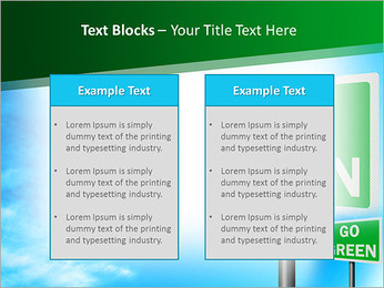 Go Green Sign PowerPoint Template - Slide 37